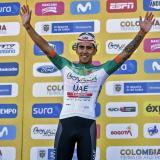 El ciclista colombiano Juan Sebastián Molano, ganador este jueves de la tercera etapa del Tour Colombia.