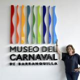 Carla Celia en las instalaciones del Museo del Carnaval.