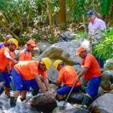 Limpian río Manzanares y recuperan 20 litros por segundo de agua para Santa Marta