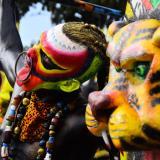 Comparsa de los indios en el Carnaval de la 44.