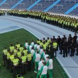 700 policías y ocho buses adicionales de Transmetro para Junior vs. Flamengo