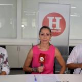 Alma Solano y Humberto Mendoza, secretarios de salud de Barranquilla y el Atlántico, respectivamente, con la directora de EL HERALDO, Erika Fontalvo.