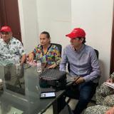 Las autoridades de Sucre y Colosó en el consejo extraordinario de seguridad realizado en el municipio.