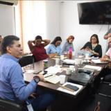 El director del ICBF, Benjamín Collante, durante la reunión realizada la mañana del lunes.