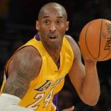 Kobe durante un juego de los Lakers.