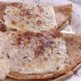 Los creps están rellenos de mantequilla, queso y arequipe.