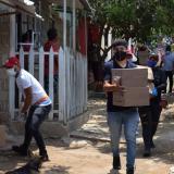 Realizan segunda entrega de ayudas alimentarias en Galapa