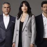 Marlon Moreno (Guillermo León Mejía), Carolina Gómez (Analía) y George Slebi (Pablo De la Torre).