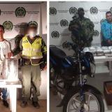 Jerson David Murillo y Darwin Barbosa fueron capturados con varios paquetes de marihuana.