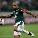Felipe Melo actuando con el Palmeiras.