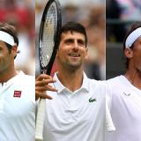 Roger Federer, Novak Djokovic y Rafael Nadal.