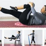 El ejercicio básico ( foto principal), el cien, sobre una silla, con bandas y bandas para piernas y glúteos soncinco ejercicios que usted puede practicar en su casa e iniciar así su camino en el mundo del pilates.