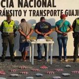 Intendente de la Policía, John Fabio Coronell Villegas (recuadro). Reseña del momento de la captura.