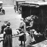 Fotografía de la epidemia de la gripe de 1918 en St Louis (EEUU).