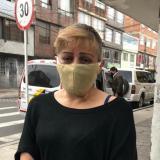 Edy Fonseca, celadora de edificio al norte de Bogotá.