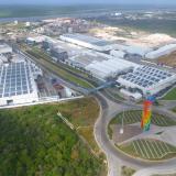 Vista aérea de las instalaciones de Tecnoglass en Barranquilla.