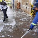 En Granabastos se realizan jornadas de limpieza como prevención del COVID-19