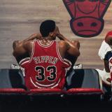 Scottie Pippen junto a Michael Jordan en el documental