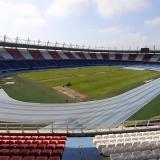 Así luce en este momento el gramado del estadio Metropolitano Roberto Meléndez.