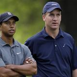 Woods y Peyton Manning vs. Mickelson y Brady