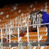 Mestalla, estadio del Valencia, con sus tribunas vacías.