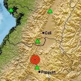 Reportan temblor de magnitud 4.2 en el Cauca