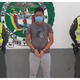 Luis Angulo Navas, capturado por el delito de hurto.