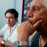 Antonio Char Chaljub, presidente de Junior, Julio Avelino Comesaña, entrenador.