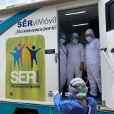 En esta unidad se toman las pruebas COVID-19 en los sectores con el mayor número de contagios en Cartagena.