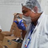 Comisión que inspeccionó las bodegas del operador del PAE en Cartagena.