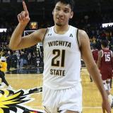 Jaime Echenique jugando para Wichita State, en Estados Unidos.