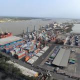 Uno de los muelles de la Sociedad Puerto de Barranquilla.