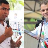John Turizo Hernández y el alcalde Andrés Gómez Martínez.