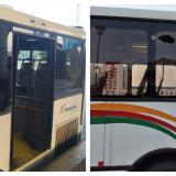 ¿Se volvió moda?, otra vez apedrean dos buses de Transmetro