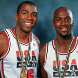 'Magic' Johnson y Michael Jordan ganaron la medalla de oro en los Juegos Olímpicos de Barcelona 1992.