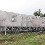 Estas casas palafíticas en la zona urbana de Sucre-Sucre están expuestas a sol y agua y sin terminar.