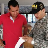 Gaula durante campaña contra la extorsión en Sucre.