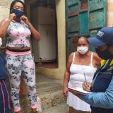 Oficina Asesora para la Gestión del Riesgo de Desastres del Distrito realizó el censo de personas afectadas en Cartagena por la ola invernal.