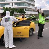 Ocho sancionados por intentar salir de paseo en Barranquilla