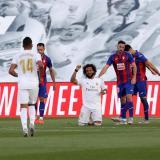 Marcelo durante la celebración de su gol frente al Eibar.