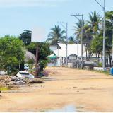 La zona de las cabañas también permanecen vacías, sin ninguna actividad, según dijeron algunos moradores.