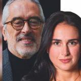 El cardiólogo Rodolfo Vega junto a su hija, la psicóloga Juliana Vega.
