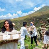 En medio de Brigada médica salvan vida a niño indígena quemado