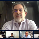 Aspecto del primer panel de discusión dedicado a la industria del petróleo y gas después de la pandemia.