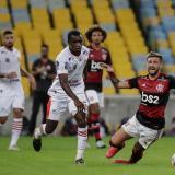 Imagen del duelo entre el Flamengo y Bangu, en el Maracaná.