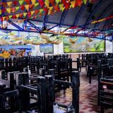 Aspecto de un restaurante que funciona en la ciudad de Barranquilla.