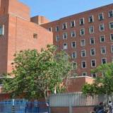 Fachada del hospital donde estaban recluidos.