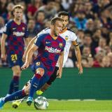 Arthur Melo en un partido del Barcelona contra el Valencia esta temporada.