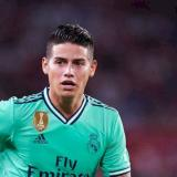 James Rodríguez en un partido con el Real Madrid.