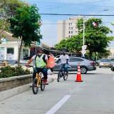 Distrito implementa 4,2 km de bicirrutas en las calles 75 y 76